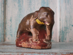 Vintage Clay Elephant from Rajasthan <b>SOLD<b>